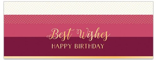 Geburtstagskarte DIN lang Bordeau Spruch Best Wishes