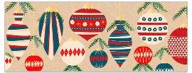 Grußkarte DIN lang Weihnachtskugeln