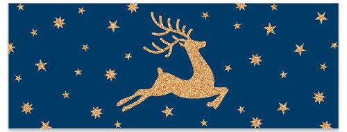 Grußkarte DIN lang Hirsch Sterne