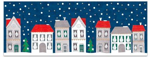 Grußkarte DIN lang Weihnachtsdorf