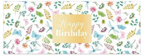 Geburtstagskarte DIN lang Schmetterling