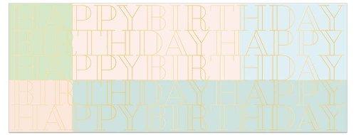 Geburtstagskarte DIN lang Happy Birthday