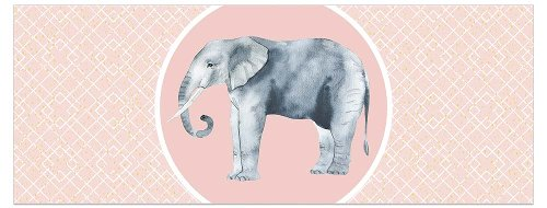 Greeting card DIN long elephant