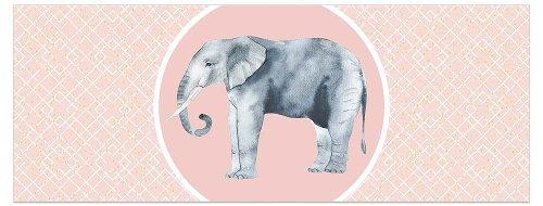 Grußkarte DIN lang Elefant