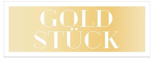 Grußkarte DIN lang Goldstück