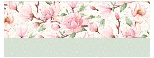 Greeting card DIN long magnolias