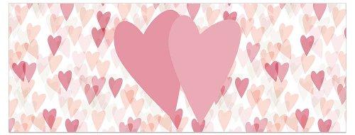 Grußkarte DIN lang Herzen Glitter