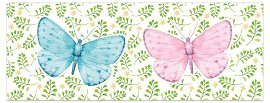 Greeting card DIN long butterflys
