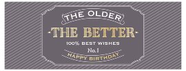 Greeting card DIN long the older the better