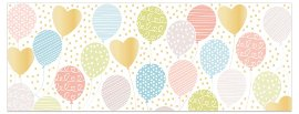 Greeting card DIN long balloons