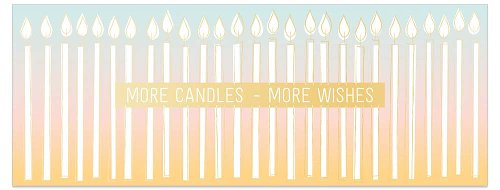 Birthday card DIN long candles