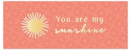 Grußkarte DIN lang Spruch You are my sunshine