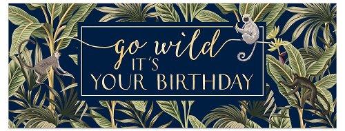 Birthday card DIN long go wild
