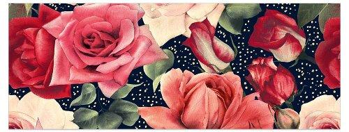Grußkarte DIN lang Rosen