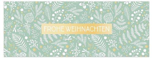 Weihnachtskarte Zweige Frohe Weihnachten