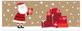 Christmas card Santa Claus gifts