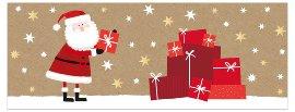 Weihnachtskarte Weihnachtsmann Geschenke