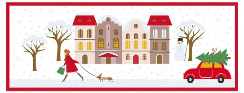 Christmas card winter village