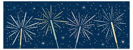 Christmas card sparklers
