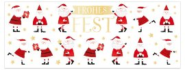 Weihnachtskarte Weihnachtsmänner Frohes Fest
