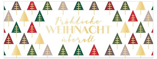 Christmas card Frohe Weihnacht überall