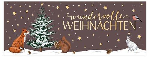 Weihnachtskarte Winterlandschaft
