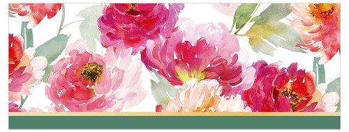 Grußkarte DIN lang Streifen Aquarellblüte