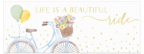 Greeting card DIN long Bicycle