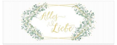 Glückwunschkarte DIN lang Alles Liebe Blätter