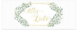 Greeting card Alles Liebe