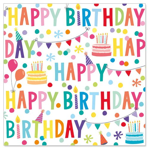 Serviette Happy Birthday Party