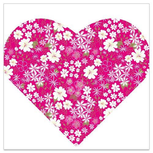 Serviette Blütenwiese Herzform