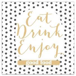 Serviette Eat Drink Enjoy