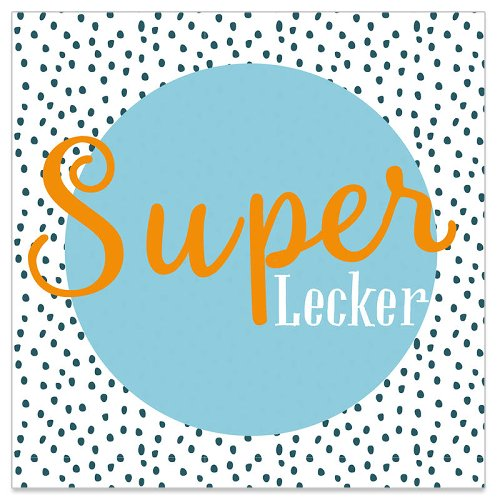 Serviette Super Lecker