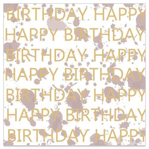 Serviette Birthday Klecks