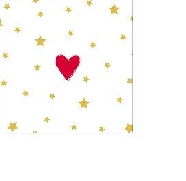 Serviette Mini Sterne Herz