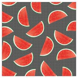 Serviette Wassermelone Anthrazit