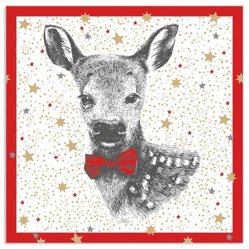 Serviette Bambi Rot
