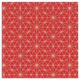 Serviette Sternenmuster Rot