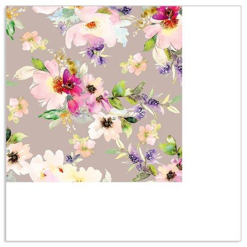 Serviette Mini Frühlingsblüte Taupe