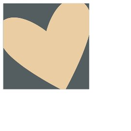 Serviette Mini Herz Grau