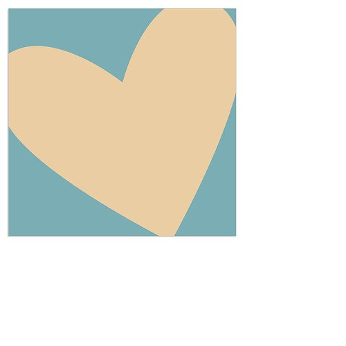 Serviette Mini Herz Hellblau