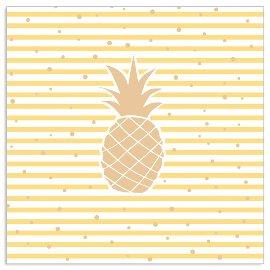 Serviette Streifen Ananas Gelb