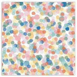 Serviette Aquarellpunkte Multicolour