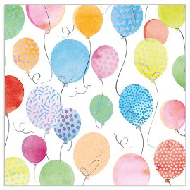 Serviette Geburtstag Ballons Multicolour