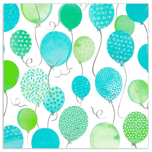 Serviette Geburtstag Ballons Blau