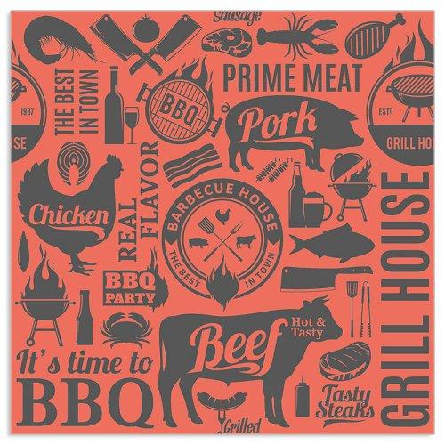 Serviette BBQ Icons Melone