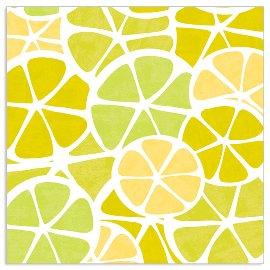 Serviette Citrusfrüchte Gelb