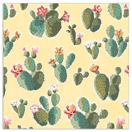 Serviette Kaktus Gelb