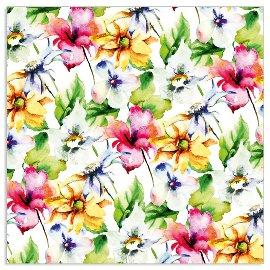 Serviette Sommerblumen Multicolour